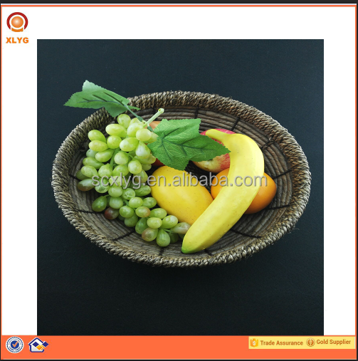 100% natural seagrass weaving round rattan bowl and basket
