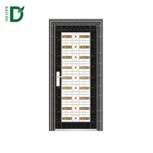 hot sale marble black stainless steel door design entry door