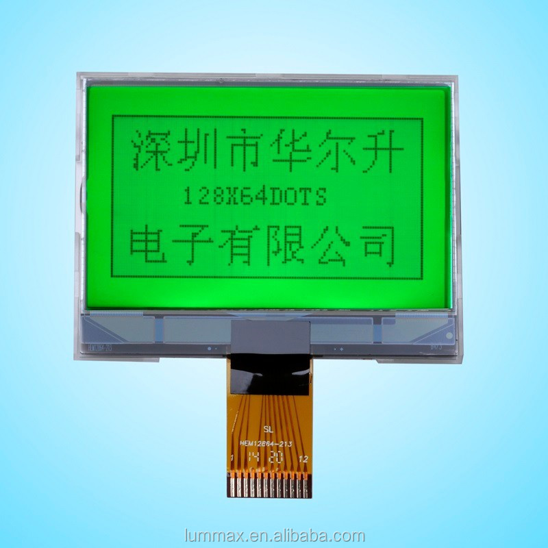 128x64 Resolution Green STN Graphic LCD Module