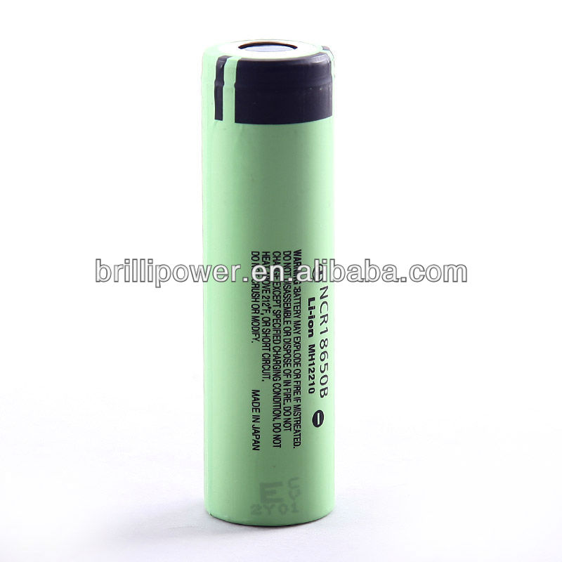 Brillipower rechargable li-ion battery 18650 3400mah mechanical ecig battery mod for panasonic