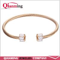 AAA Cubic Zircon Bracelet Fashion Open Double Ball 18K Gold Plated 2016 New Wedding Jewelry Joyeria Marcas Famosas