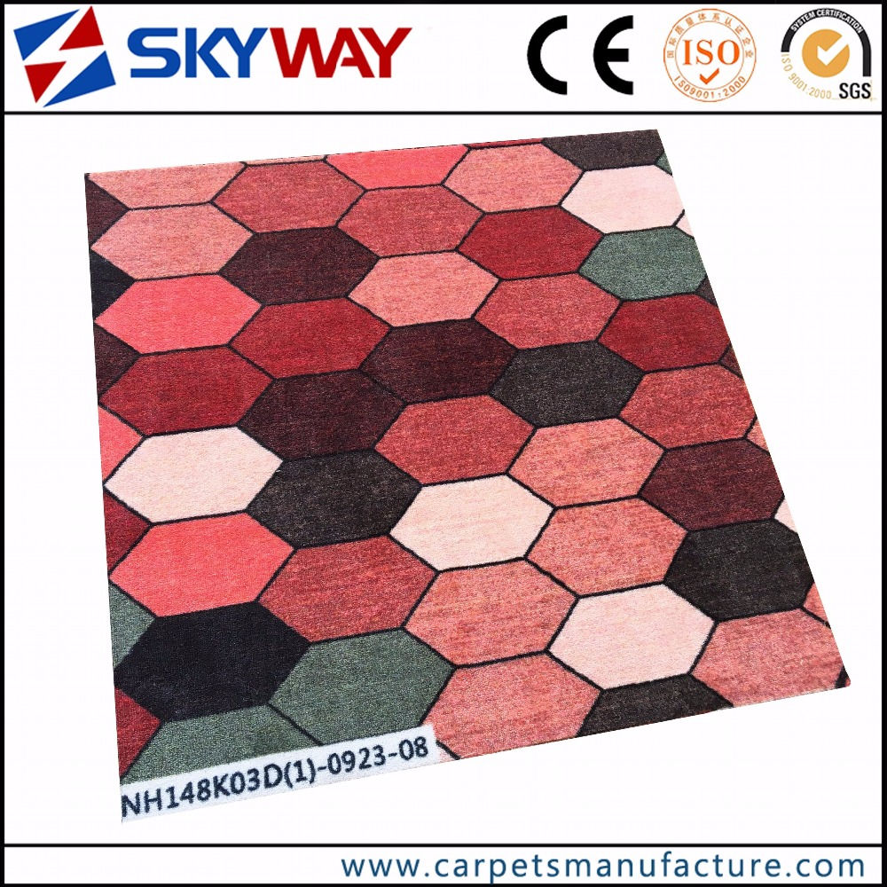 Factory custom luxury velour hotel carpets for hotel or Cinema