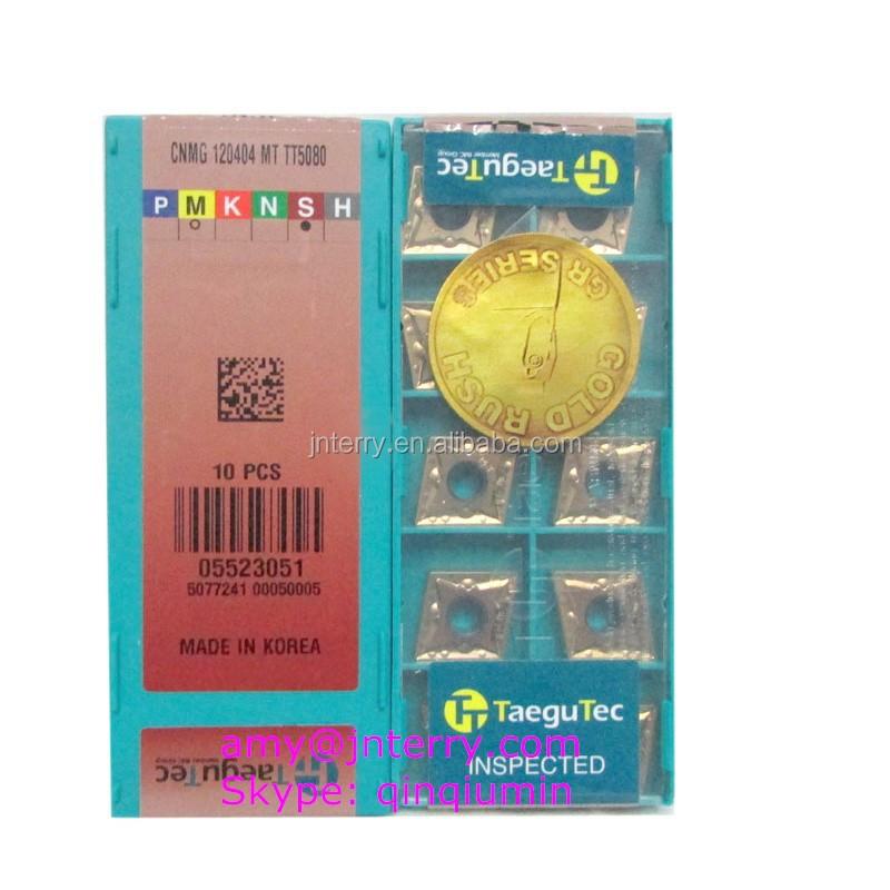 10pcs Taegutec VBMT160408 MT TT8125 Carbide Inserts New