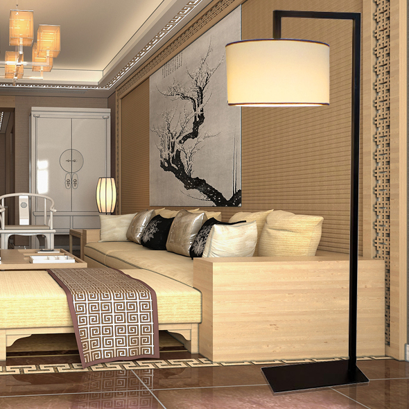 designer lamp modern new chinese restaurant hotel and villa living room floor lamp lighting. Black Bedroom Furniture Sets. Home Design Ideas