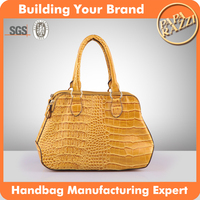 3415 OEM manufacturing handbags crocodile patent tote lady bag fashion women bags