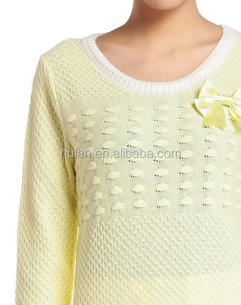 2015 Latest Wool Handmade Sweater Design For Girl