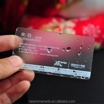 Custom Thickness Two Sided Printing Business Card Plastic Pvc