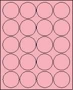 "2"" Round Pastel Pink Labels for Laser Printers, Inkjet Printers or Copier Machines. (GLC200PP)"