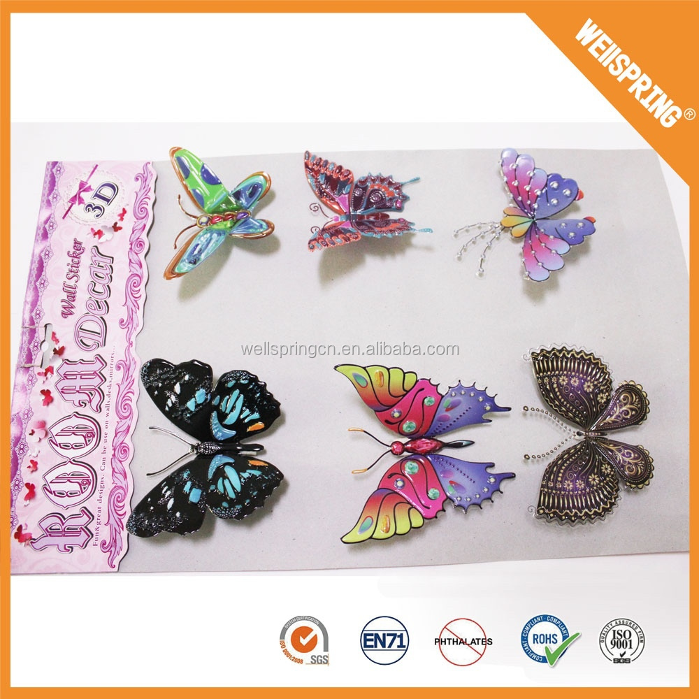 01-0711 Party decorations butterfly removable pvc 3d kids wall sticker