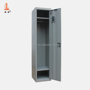 1 Door Army Steel Hanging Clothes Wardrobe Cabinet Single Metal Military Wall Locker