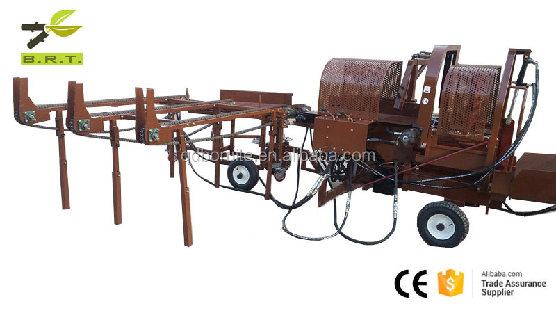 firewood processor with saw and splitting log splitter