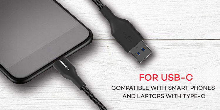 Marakoko M-TC03 Nylon High quality USB C to USB A Data Cable Fast USB C Charging Cable
