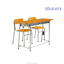 SD-S-018 Cheap High Quality Antique Assemble Primary School Children Study Table And Chairs