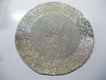 Very Glass Beaded Placemats - Buy Silver Glass Beaded Placemat,Round  AK14