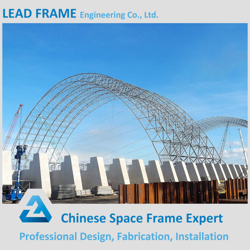 pre-engineering steel roof space frame coal storage
