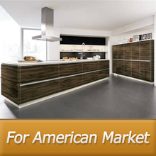 American style flat pack kitchen cabinet from china home furniture