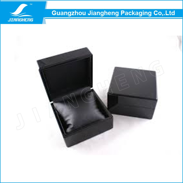 Mysterious black watch display wooden box packaging manufacturer