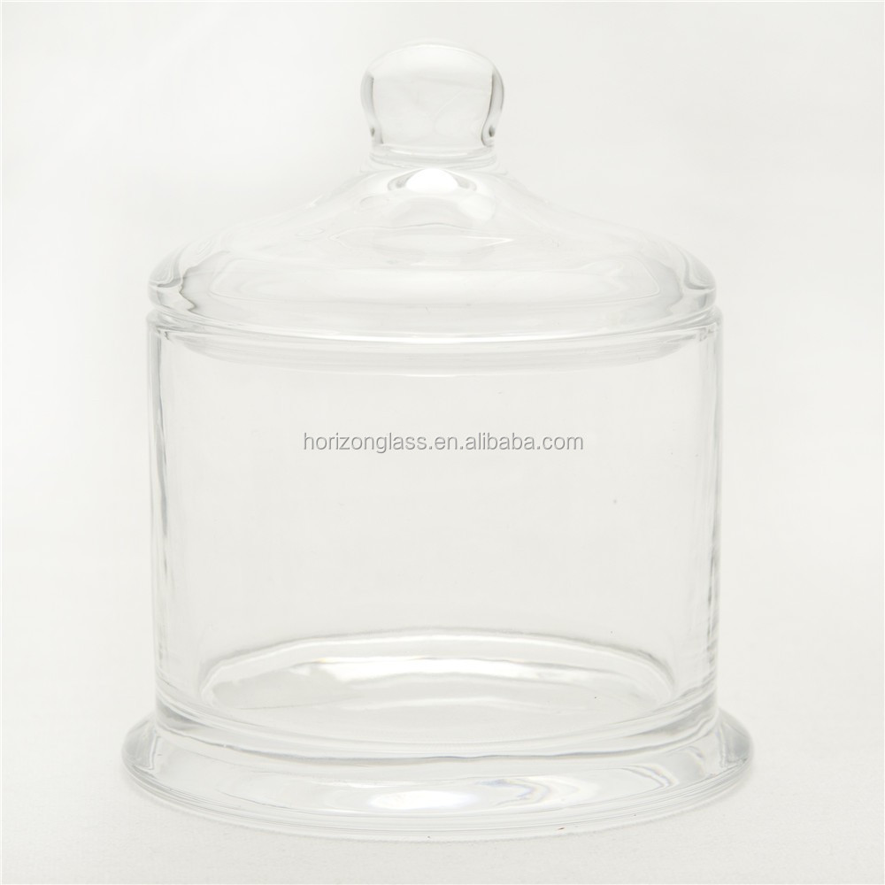 wholesale handmade clear glass candle jar with lid buy glass jar glass candle jars and lids. Black Bedroom Furniture Sets. Home Design Ideas
