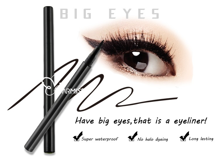 Line Art Matte Eyeliner : Line art matte eyeliner quick drying smudge proof