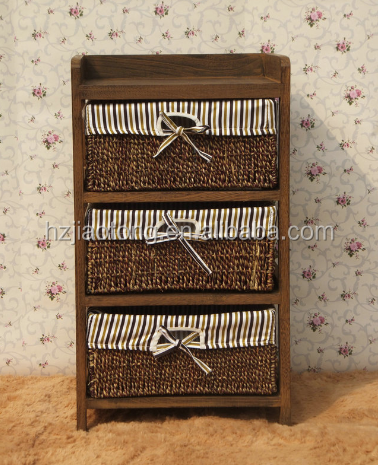 Corner Wooden Wicker Cabinet With Wicker Basket, Corner Wooden Wicker  Cabinet With Wicker Basket Suppliers And Manufacturers At Alibaba.com
