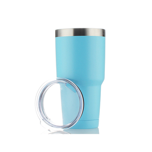 Thermal printed reusable coffee cup custom double walled tumbler thermal