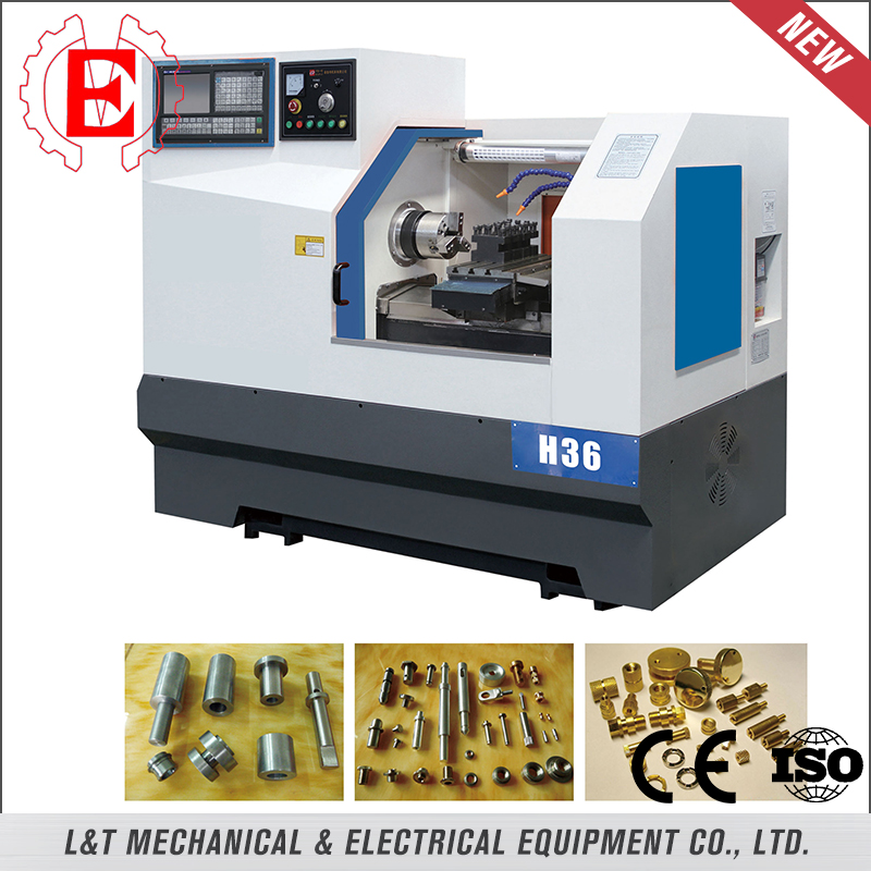 Flat bed electric turret cnc lathe