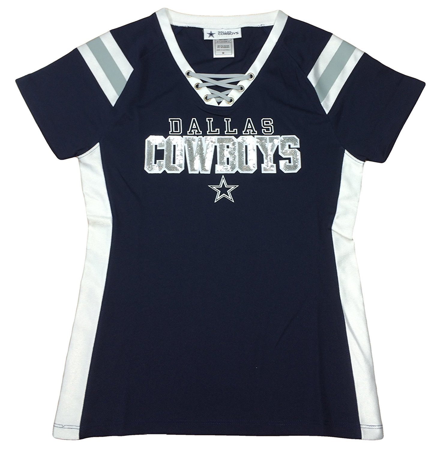 ed951036d Get Quotations · Dallas Cowboys Lace Up Jersey Top