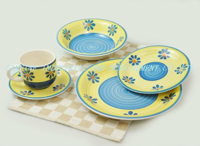 20 pieces handpainted dinner set from china, 20 pieces crokery handprting dinner set