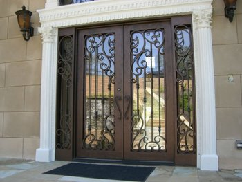 Wrought Iron Door Designs Entry With Side Lite Made In China Factory