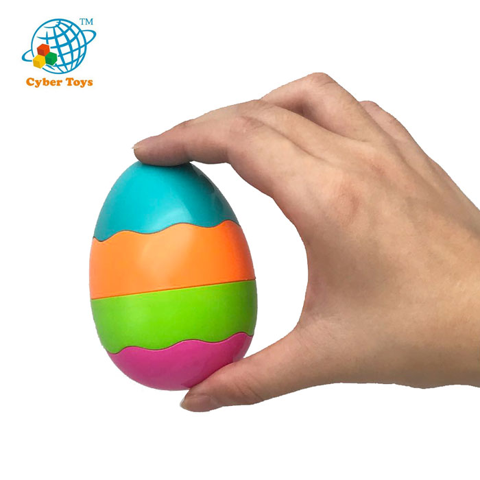 Hot Sale Promotion Gifts Plastic Rainbow Toy Eggs for Kids