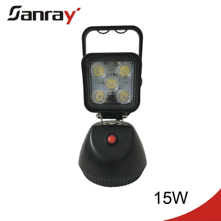 15w led werklamp draagbare batterij led verlichting met magnetische voet 12v led licht werk