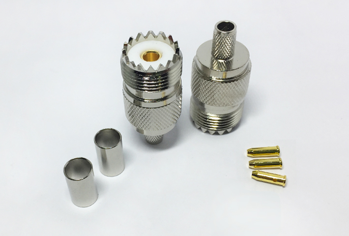 rf coaxial cable assembly kit UHF female bulkhead to MMCX male right angle with RG174 RG316 cable