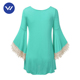 Factory sale best long sleeve cute long tunic tops for woman