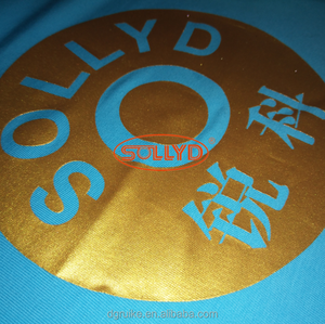 SOLLYD Metallic Silver and Gold waterbased screen printing textile ink on fabric