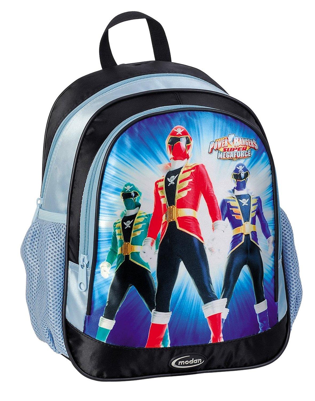 Power Rangers SUPER MEGAFORCE Light Blue Kindergarden Double Fill Backpack - Licensed Power Rangers Merchandise
