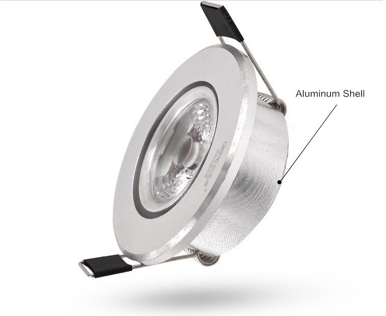 55mm Cut Hole Sizes 3watt Mini Recessed Led Downlights