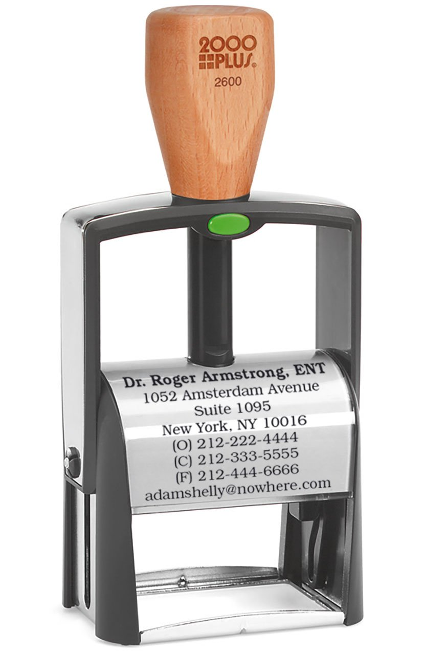 Heavy Duty Bank Deposit Stamp, Self Inking Stamp - 8-Line Extra Large Size Stamp - Customize Online, choice of font and ink colors