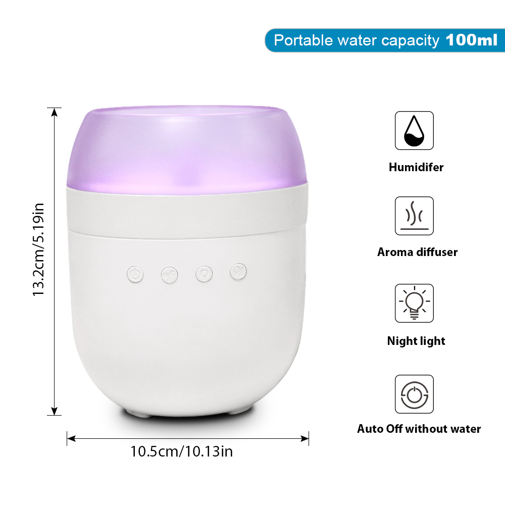 Battery Operated cool mist ultrasonic air aroma essential oil diffuser OEM