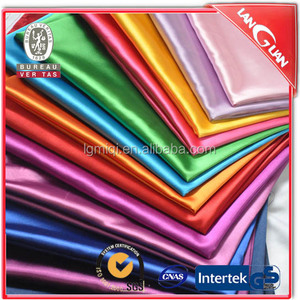 Wholesale spandex silk satin fabric roll for women garment