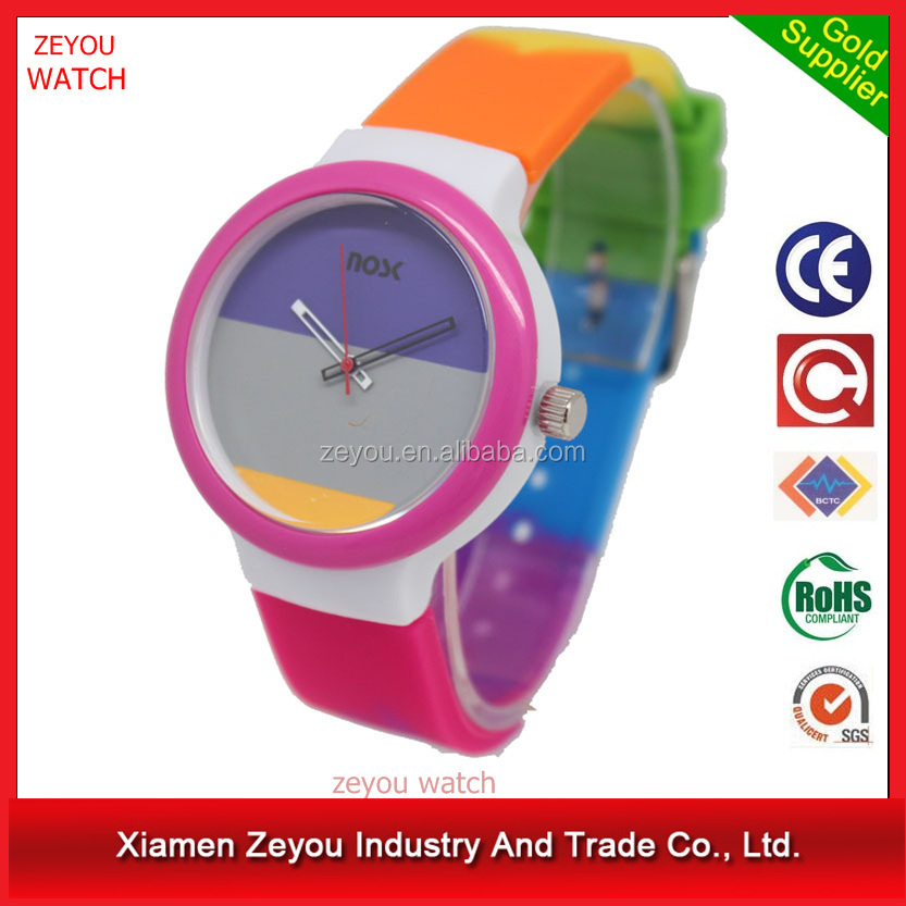 R0705 Costom Logo Colorful Silicone Band Kids Watch, Waterproof Lovely Kids Watch