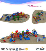plastic playground/outdoor slide structure,kindergarten commercial outside playground equipment