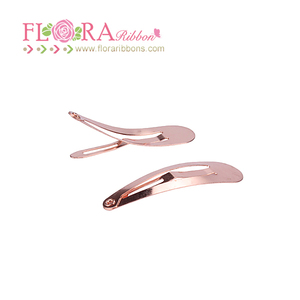 New fashion kids hair accessories snap flat metal hair clips