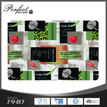 Cheap CMYK printing custom kitchen plastic placemats