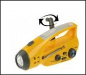 Flashlight Radio With Mobile Phone Charger Function