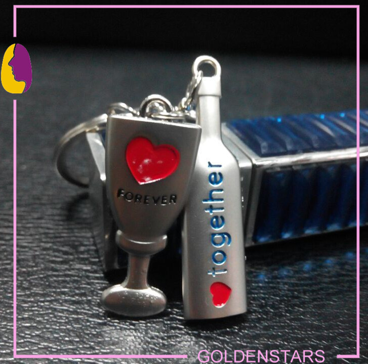 Romantic nice metal personalized key cover keychain metal key fob hardware