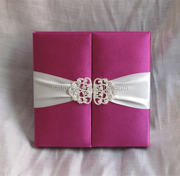 Luxury Silk Wedding Invitation Box Luxury Silk Wedding Invitation