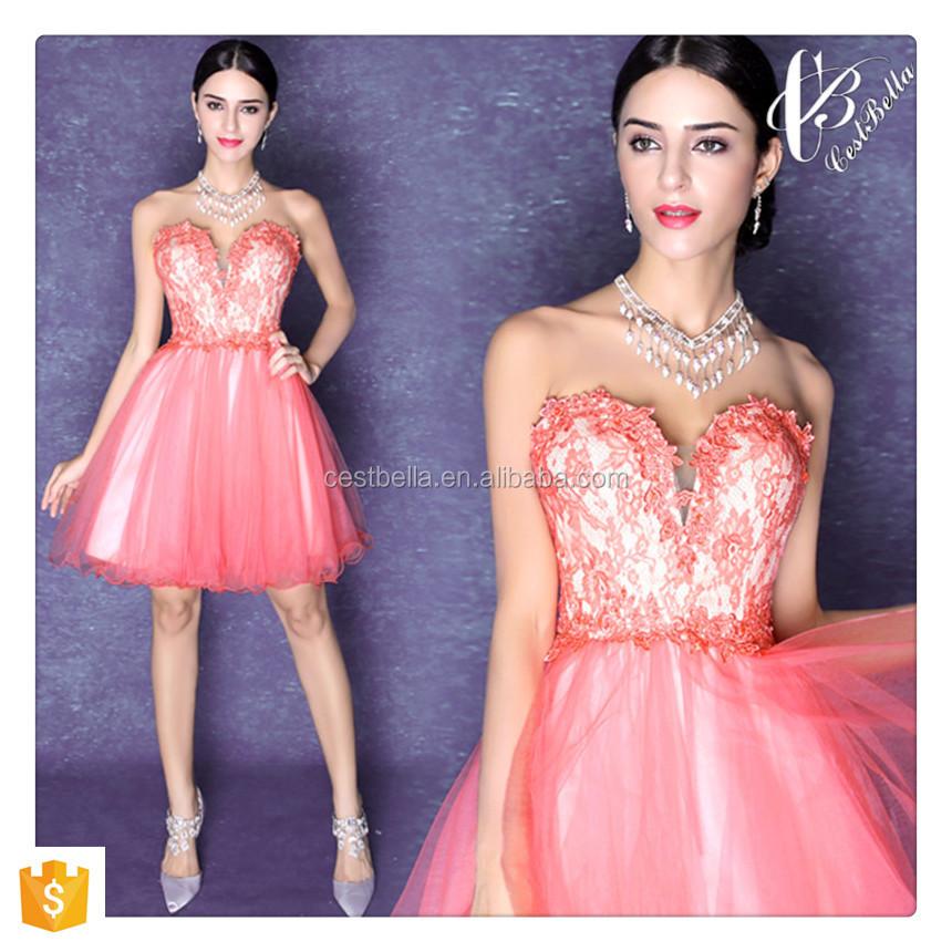 Venta al por mayor vestido de coctel rosa-Compre online los mejores ...