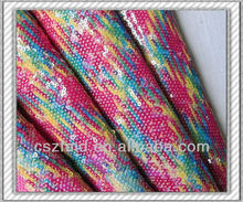 High brightness ladies fancy clear sequin fabric