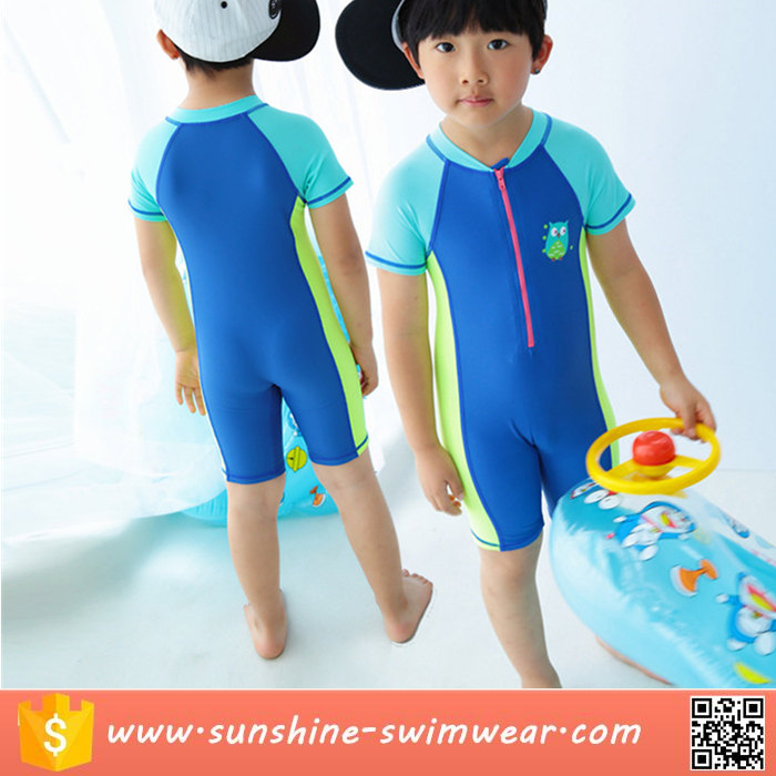 New OEM Sublimation Child Boy One Piece Swimwear