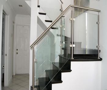 Stainless Steel Stair Railing Stair Glass Railing Price ...